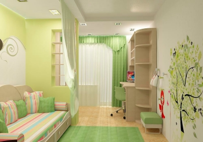 Красивый ремонт в детской комнате