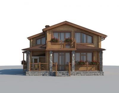 Проект дома из бруса или газабетона