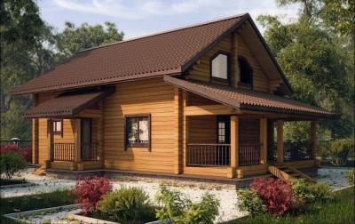 Качественные дома из бруса для дач