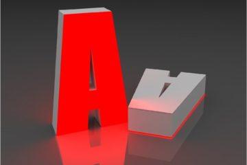 Объёмные световые буквы