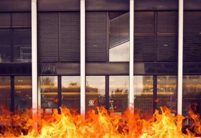 Откатные противопожарные ворота и противопожарные перегородки